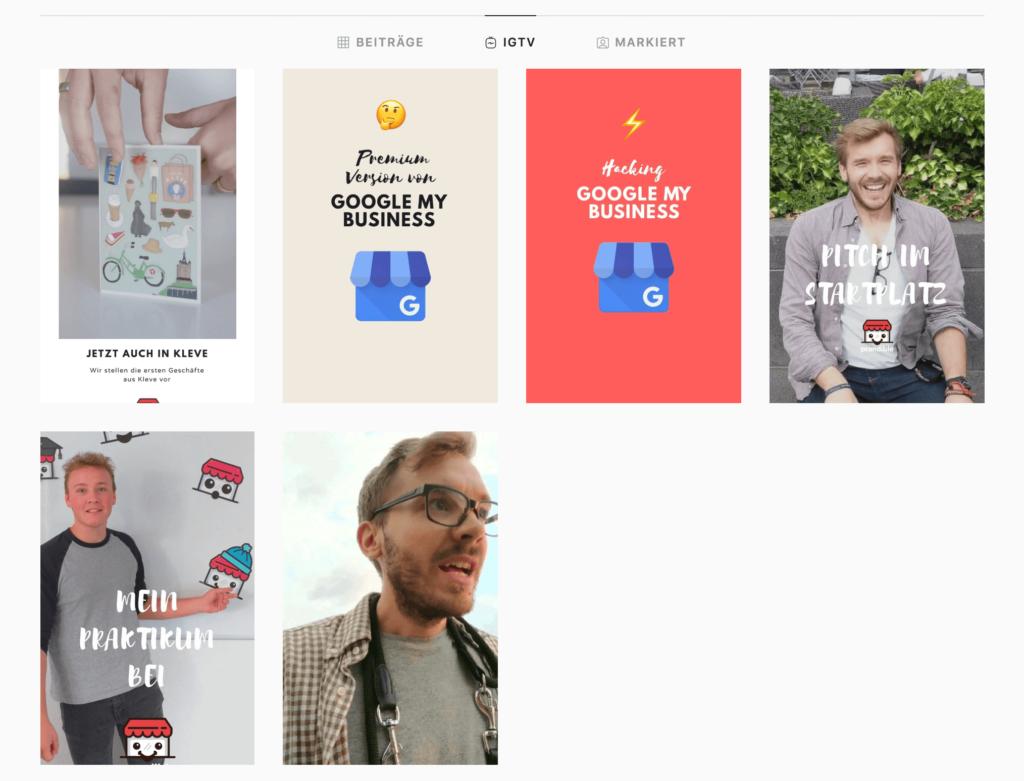 Instagram für kleine Unternehmen - prandible